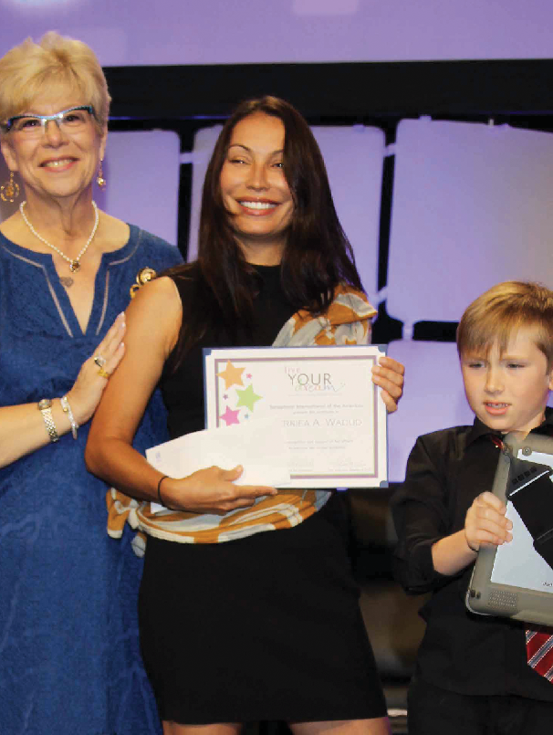 Terriea was awarded $15,000 through Soroptimist's <em>Live Your Dream Award</em>.